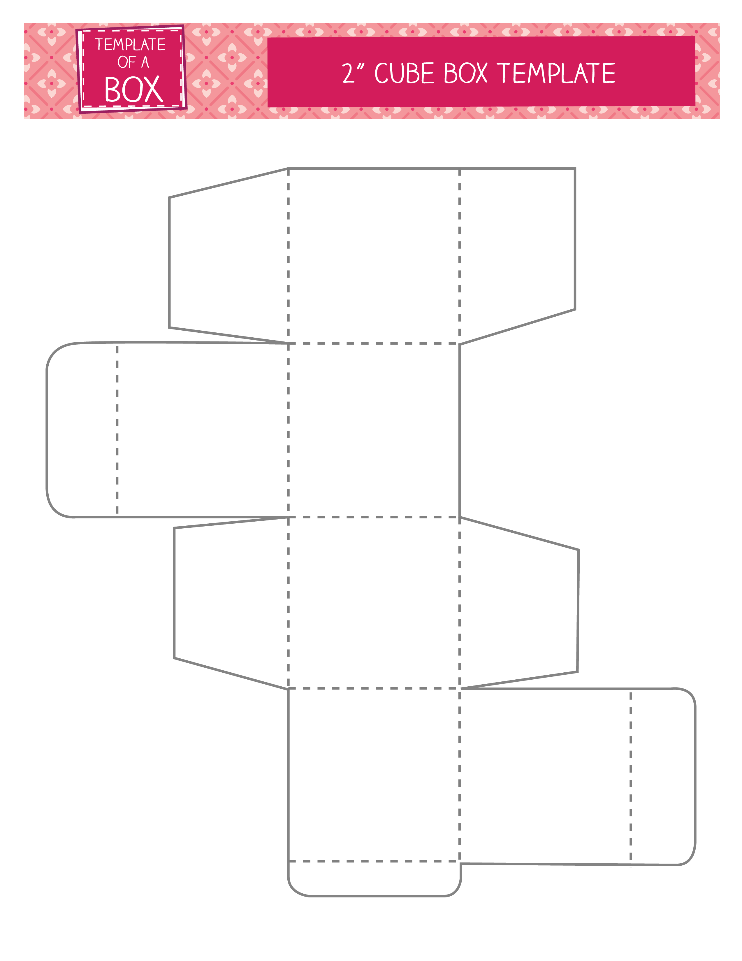 Cubes vector cube outline. Paper box template www