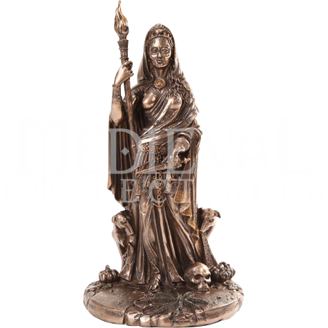 Diety statue png. Bronze goddess hecate neo