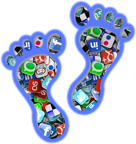digital footprint png