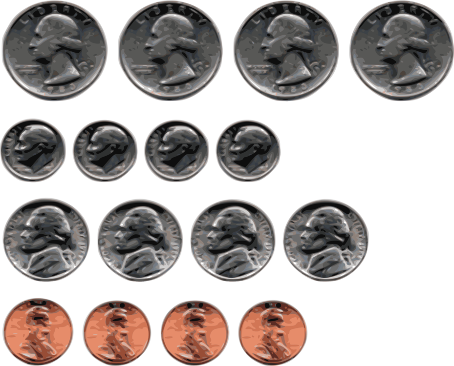 Lincoln cent coin money. Dime clipart penny png free library