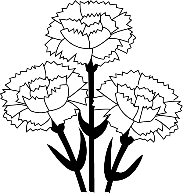 Dime clipart black and white. Free carnation cliparts download