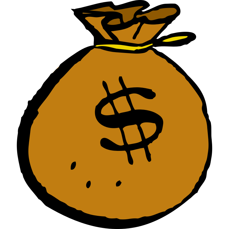 Cash clipart. Free cartoon stack of