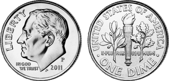 Dime clipart dime front back. Png freeuse huge