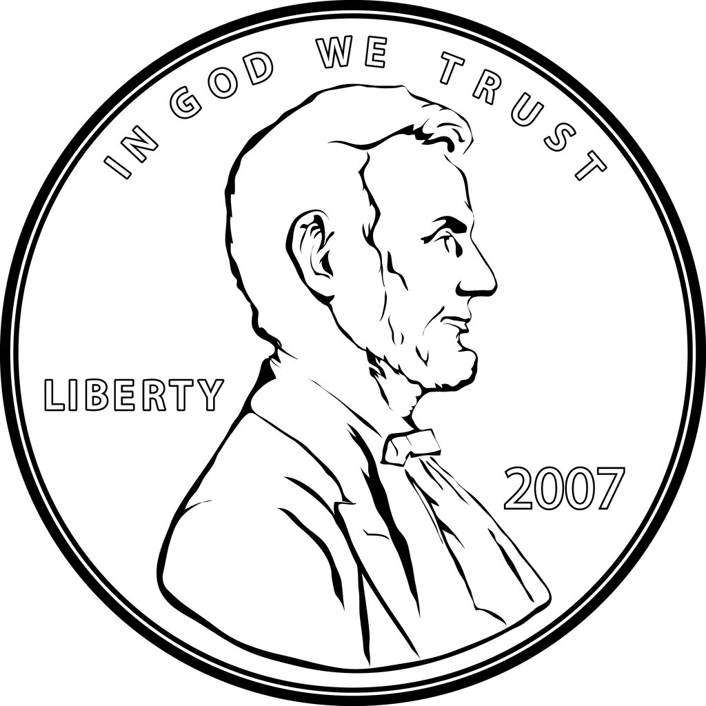 Best of collection digital. Dime clipart penny graphic library download