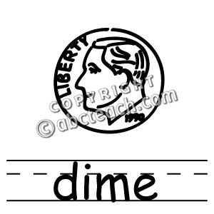 Dime clipart special. Clip art basic words