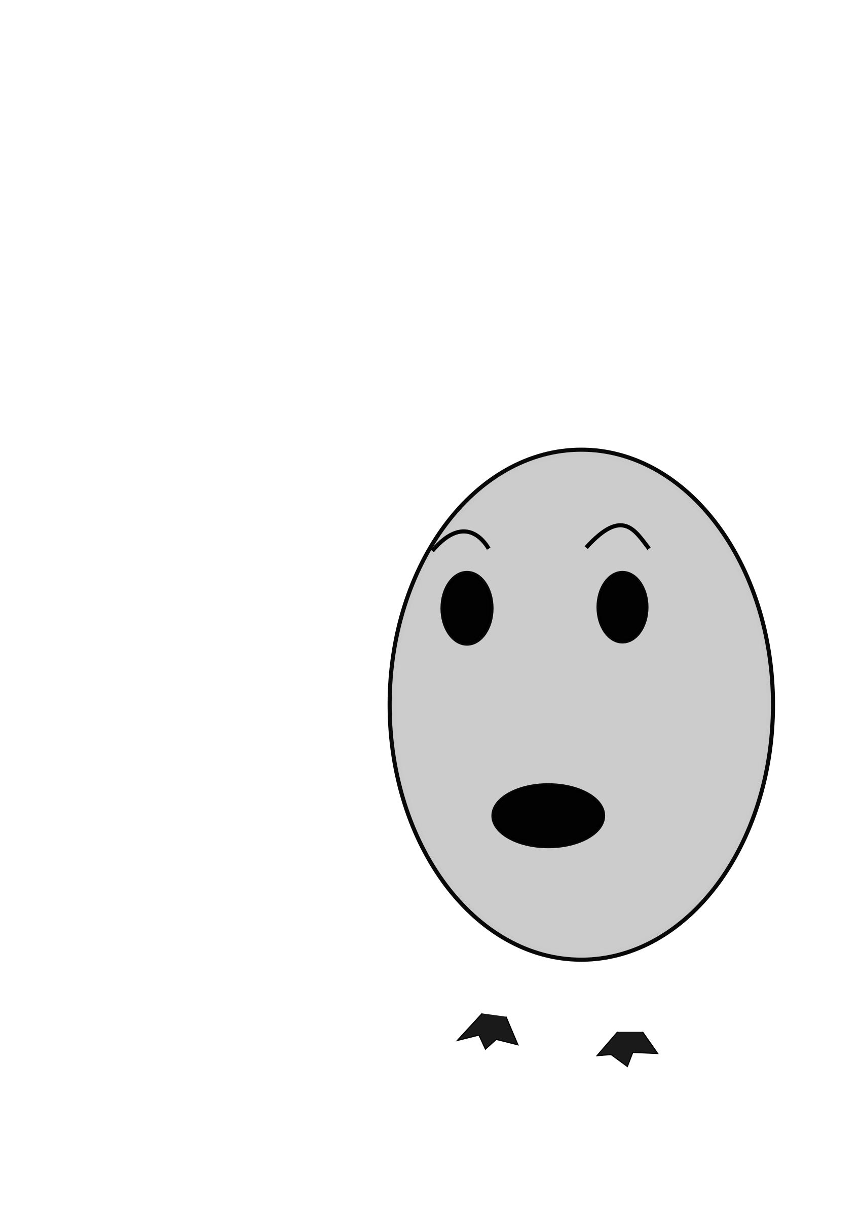 Dimple drawing. Clipart egg big image