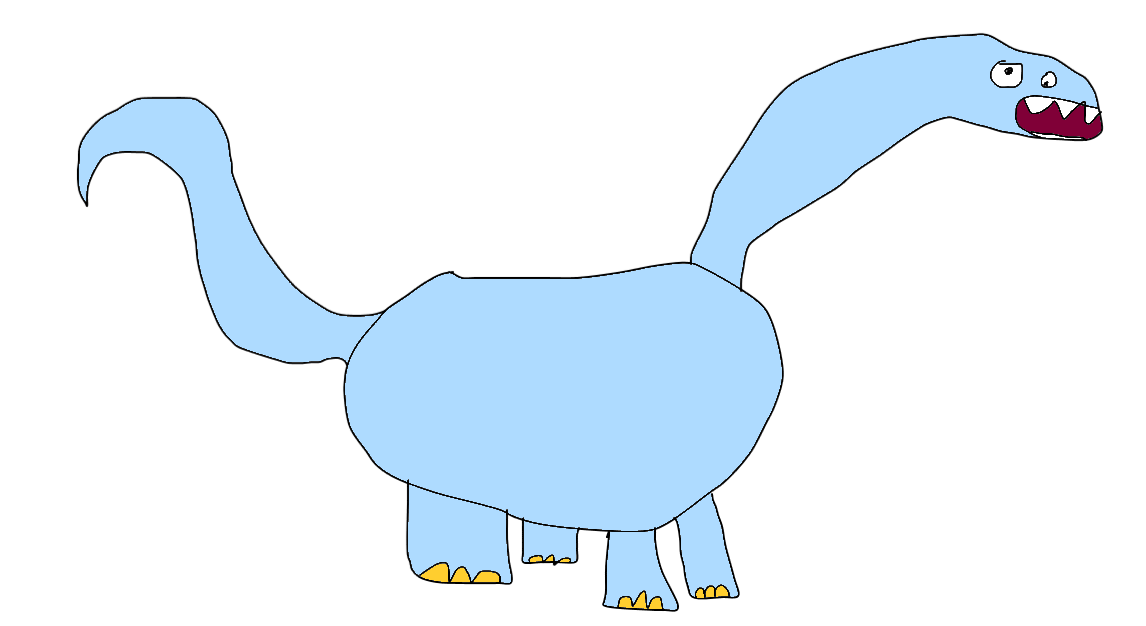 Dinasour drawing. My first really good