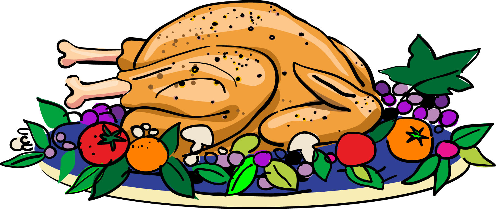 Chicken clipart chicken dish. Diner food platter free