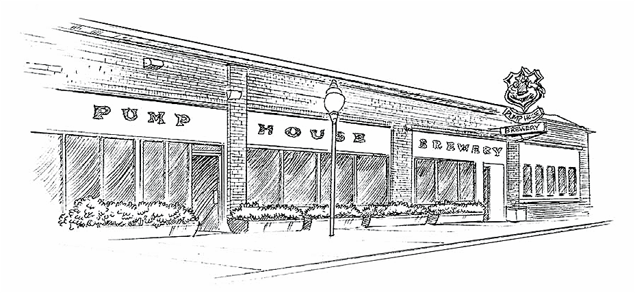 Diner drawing restaurant exterior. Collection of outside