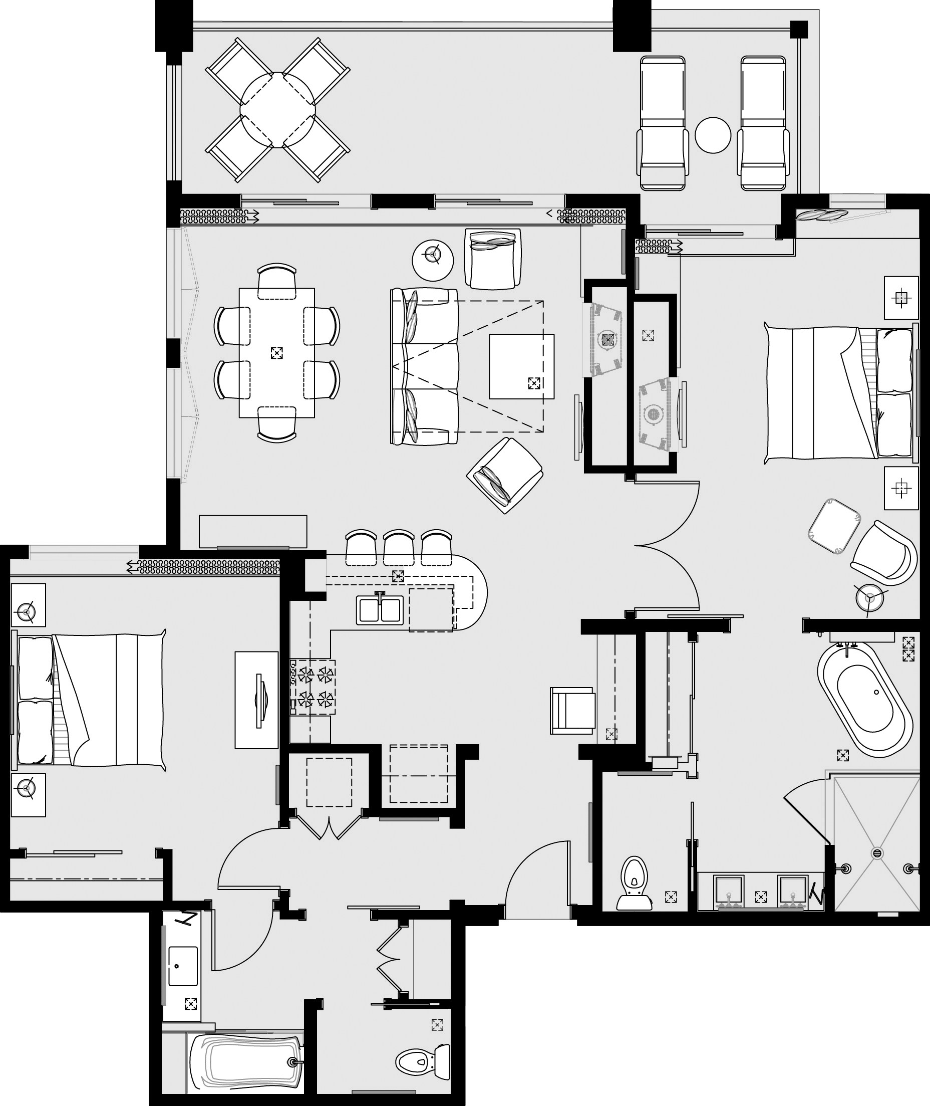 Diner drawing restaurant floor plan