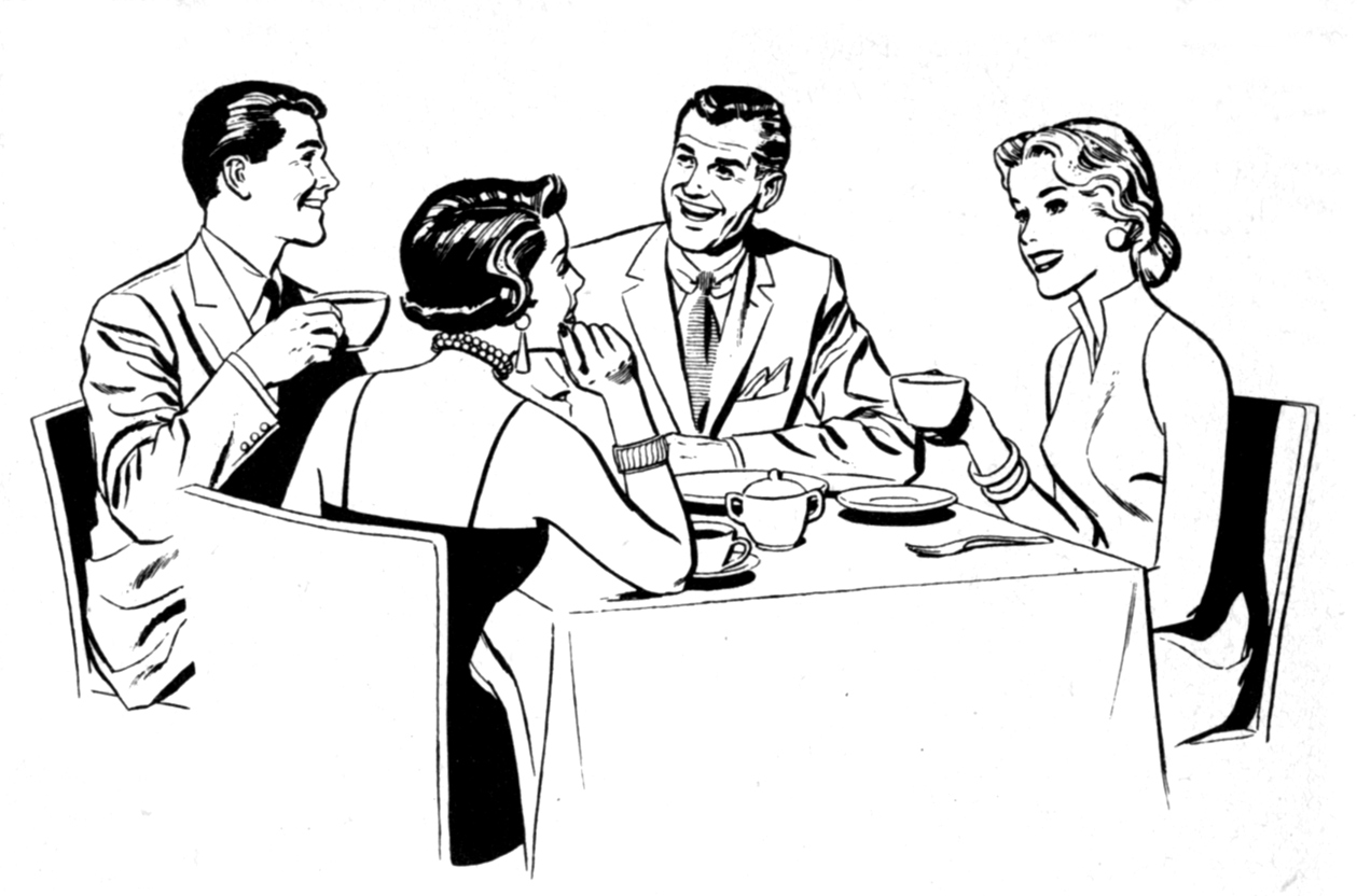 Dining clipart business dinner. How to survive a