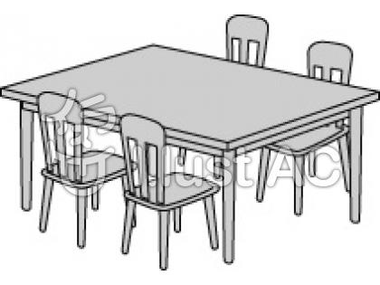 Dining clipart dining hall. Room table black and