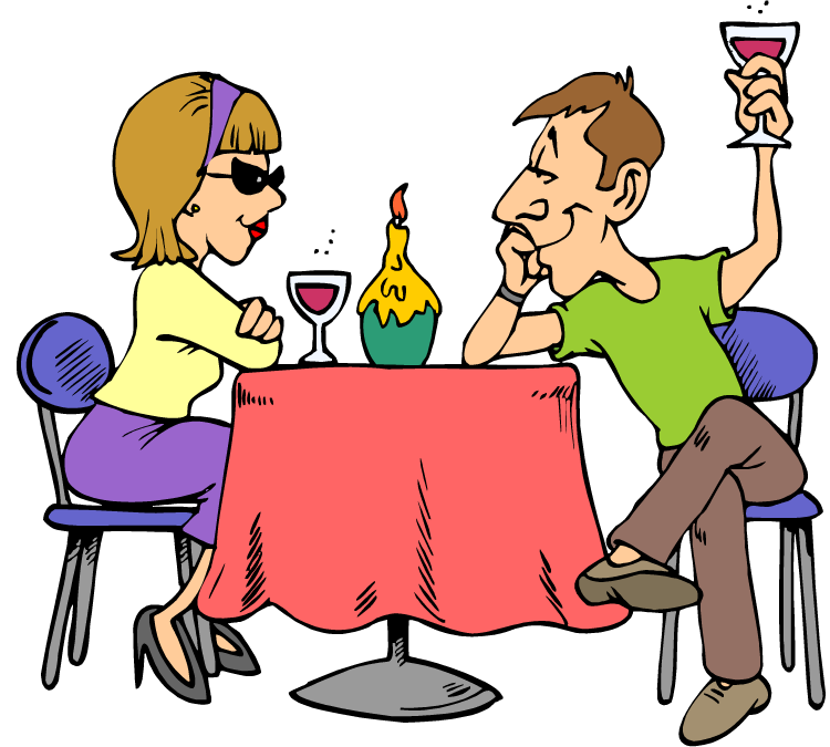 dinner couple cartoon png