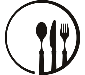 Plate clipart plate utensil. Dinner group with items