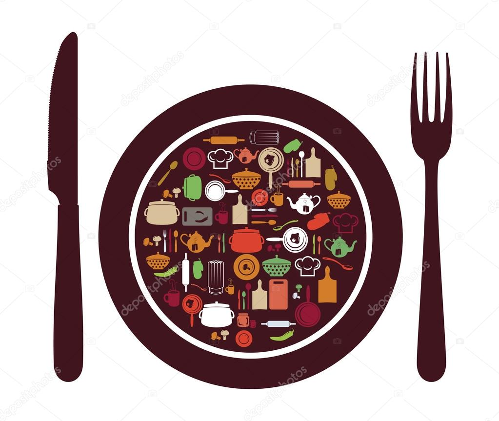 dining clipart plate spoon fork