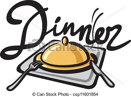 Dinner handwriting csp. Feast clipart meal banner royalty free