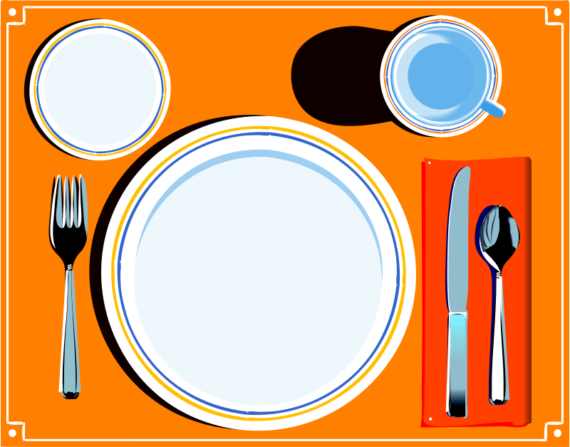 Dinner clipart dinner table. Dining clip art setting