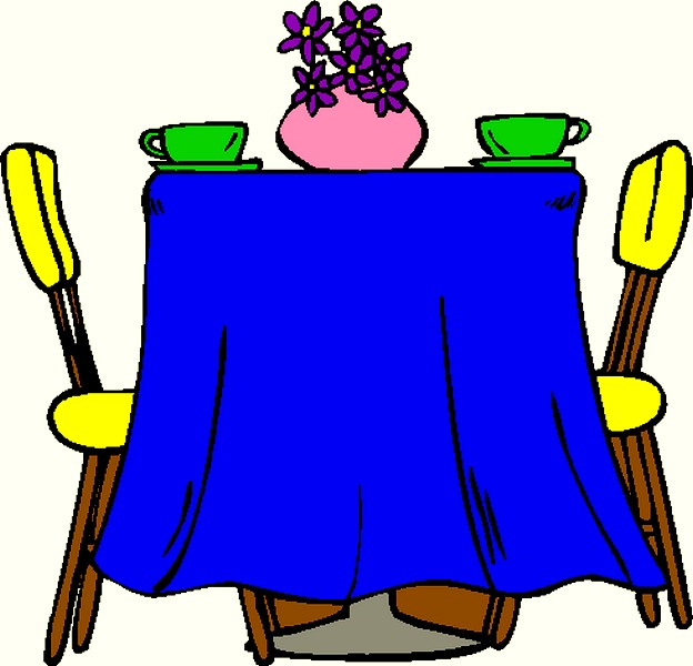 dinner clipart dinner table