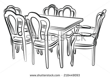 Dinner clipart dinner table. Clip art dining room