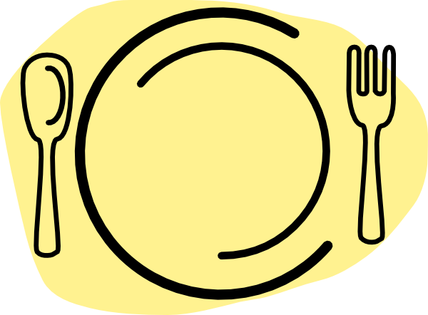 Dinner clipart png. Iammisc plate with spoon