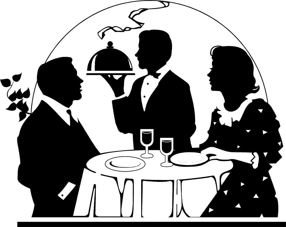 Dinner couple cartoon png. Free stock photo illustration