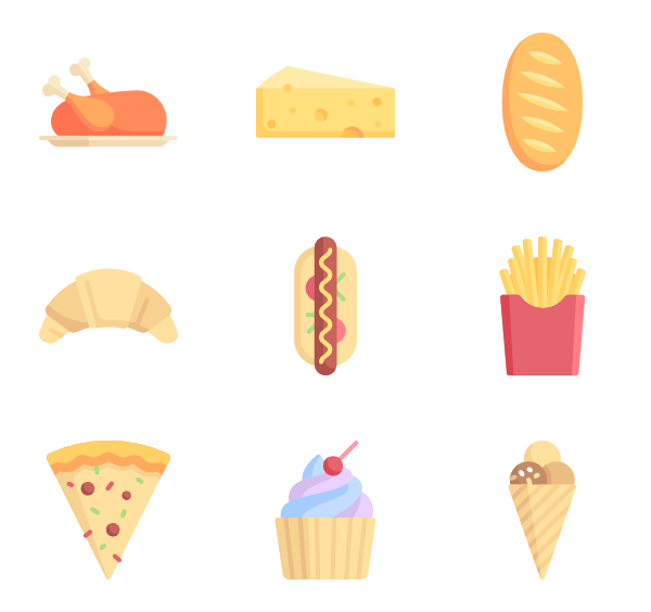 Beef vector pork. Fish icons free food