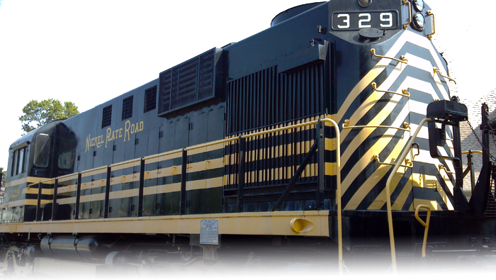 Dinner made out of train cars fasade png. Mad river nkp railroad
