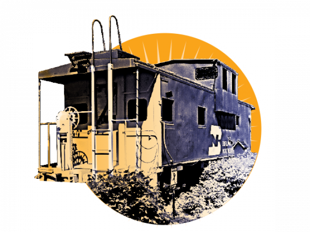 Dinner made out of train cars fasade png. Media resources otter tail