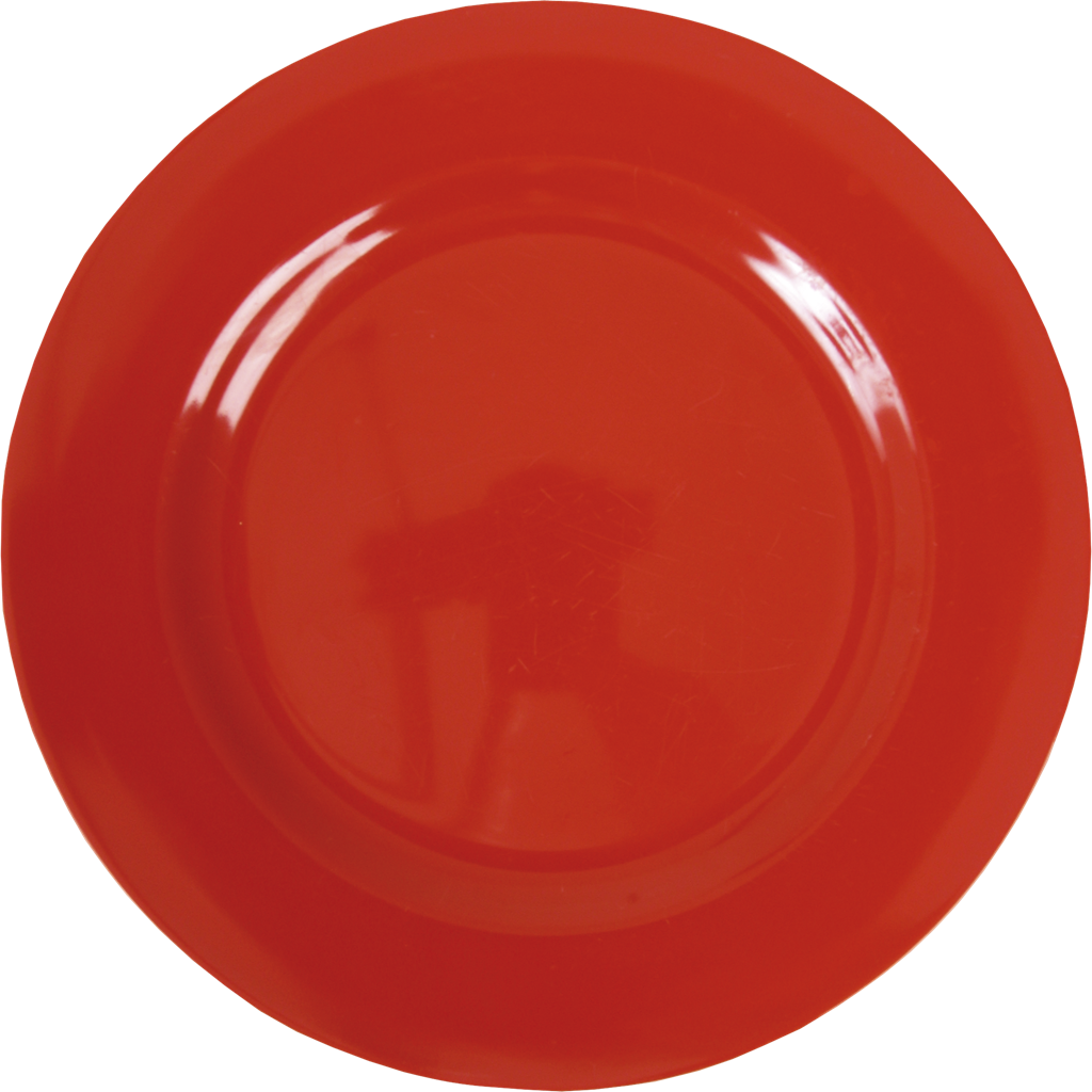 Dinner plat png. Red melamine round plate