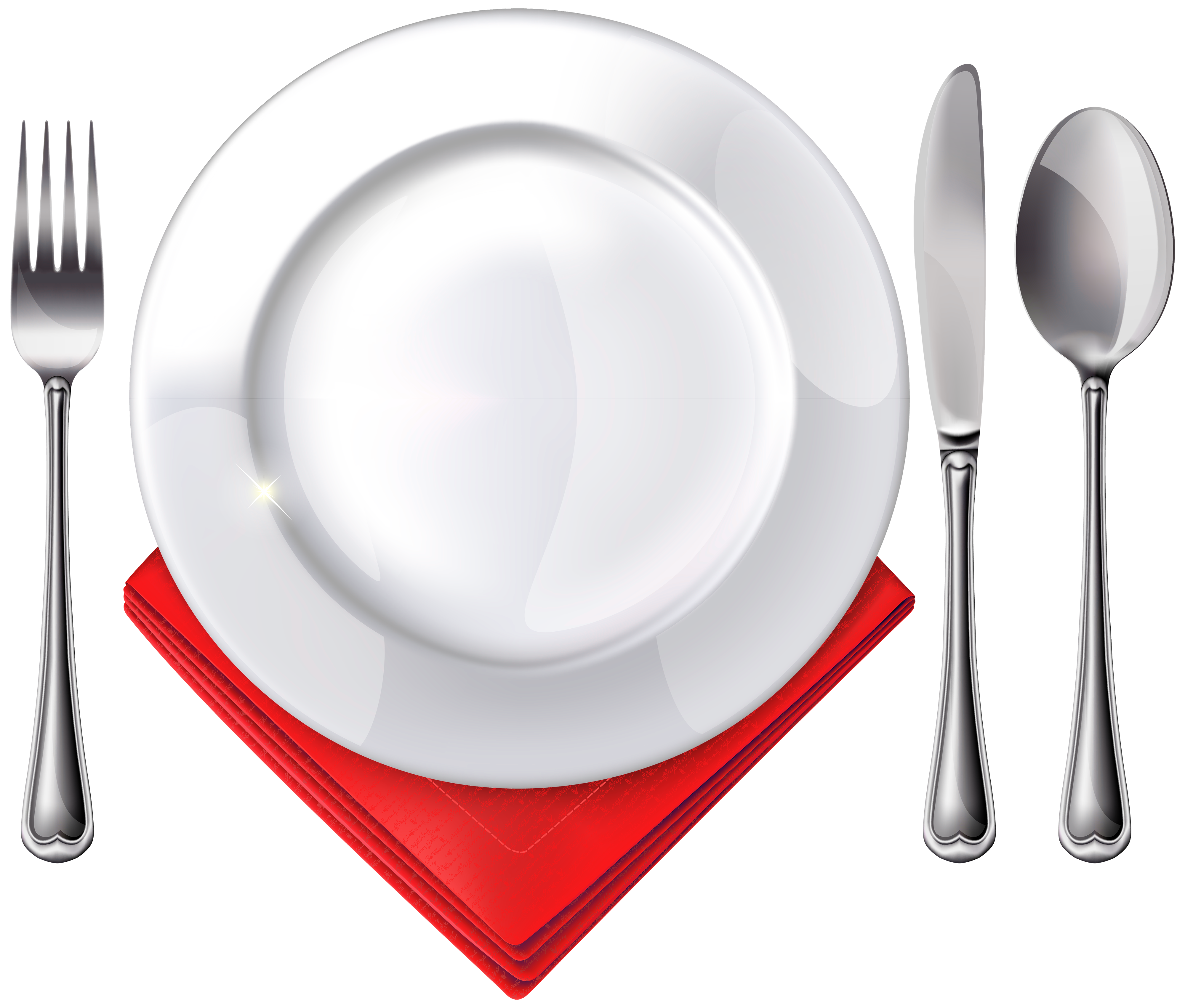 Dinner plate clipart png. Spoon knife fork and