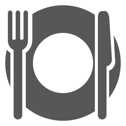 Dinner vector. Empty plate icon transparent