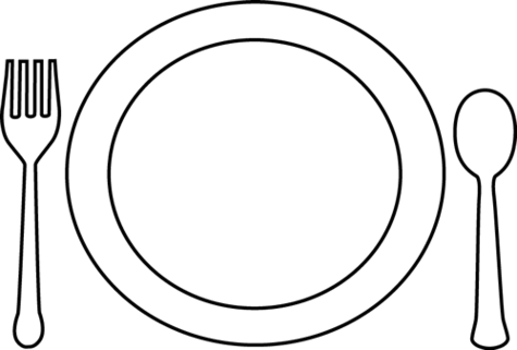 collection of food. Plate clipart jpg library library
