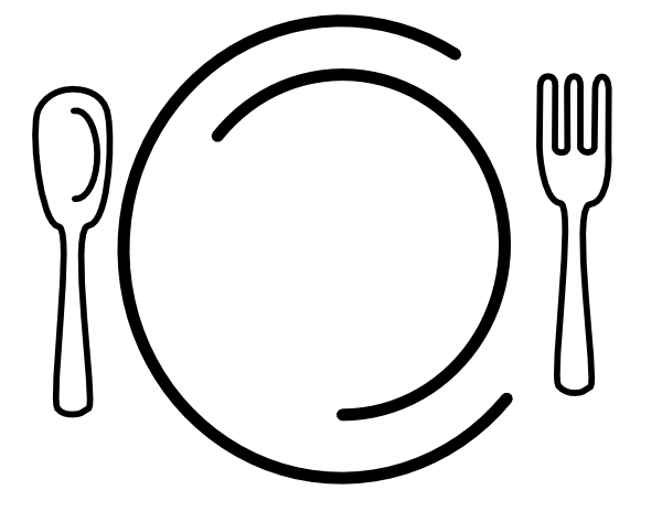 Dinner vector. Plate clip art at