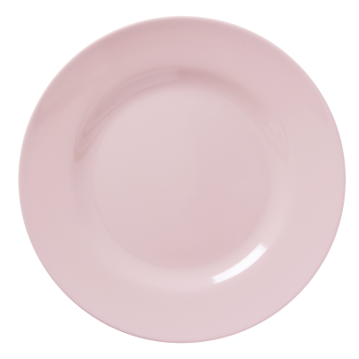 Dinner plate transparent png. Soft pink melamine by