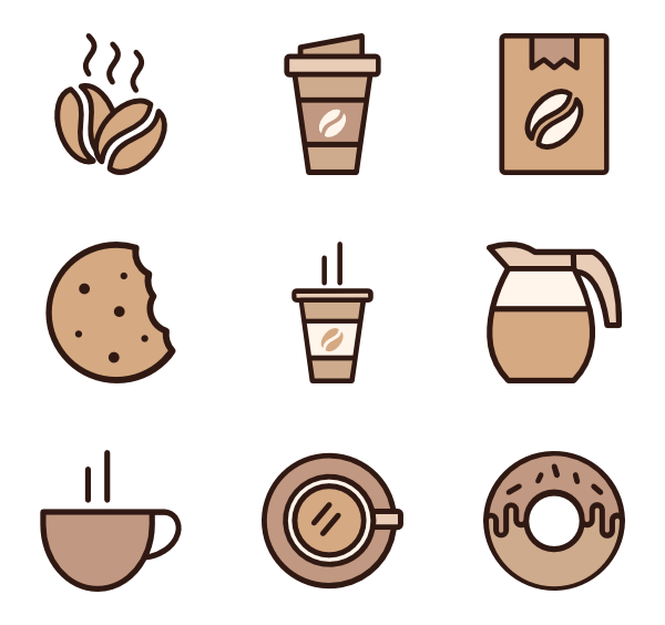 Dinner vector top view. Plate icons free coffee