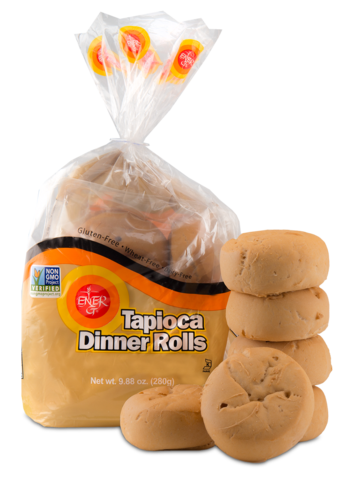 Dinner roll pack png. Ener g foods tapioca