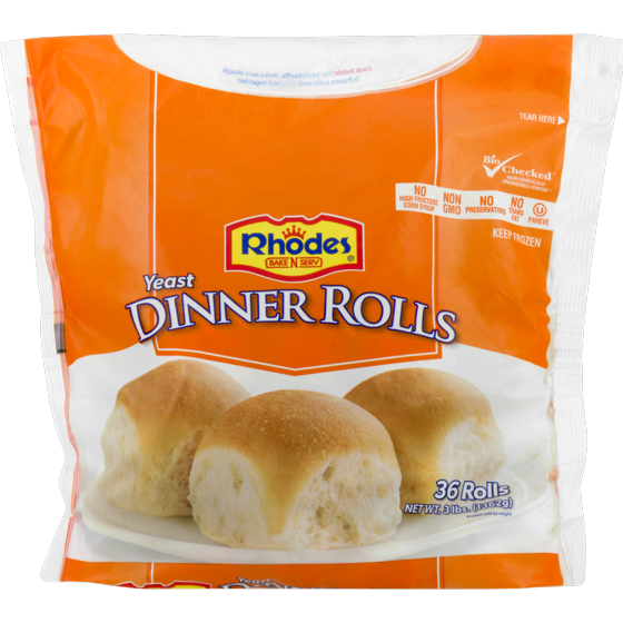 Dinner roll pack png. Rhodes bake n serv
