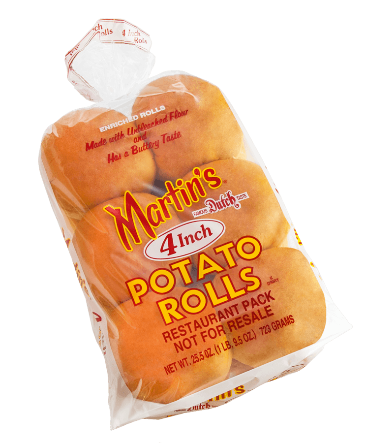Dinner roll pack png. Inch potato rolls