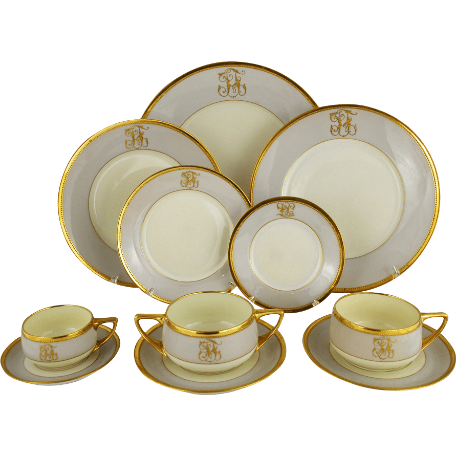Dinner set png. Art deco service transparent