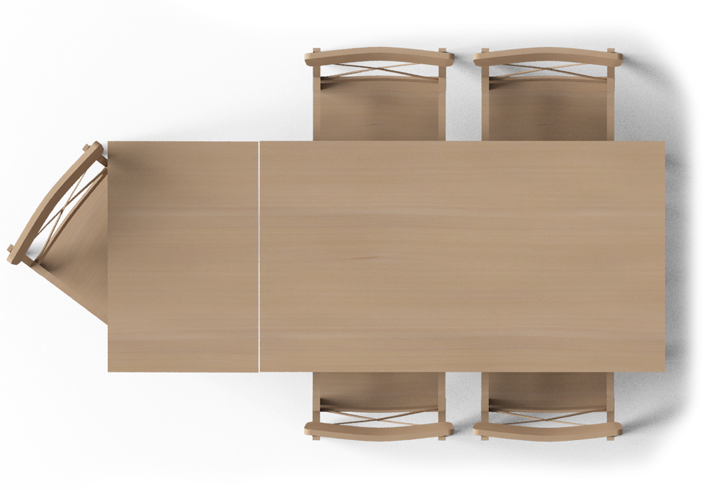 dinner table top view png