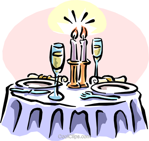 Dinner vector cartoon. Collection of free dining