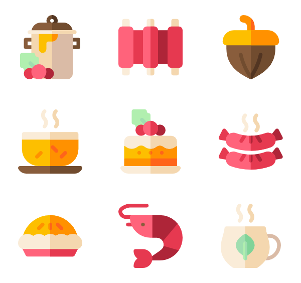 Dinner vector table top. Icons free christmas food