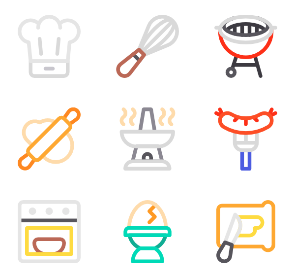 Recipe vector kitchen. Cooking icons free