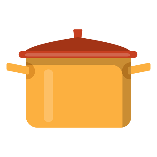 Dinner vector cooker. Cooking pot icon transparent