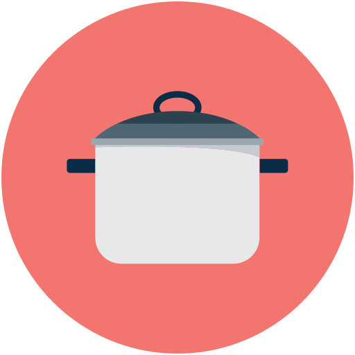 Dinner vector flat design. Food colored icon with