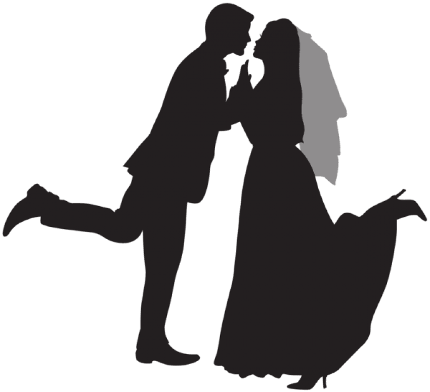 Dino couple png. Silhouette wedding free images
