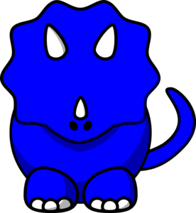 Dino svg blue. Tricertop clip art at