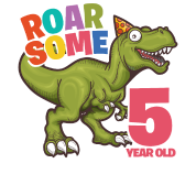 Dinosaur bday 5 png. Roarsome year old birthday
