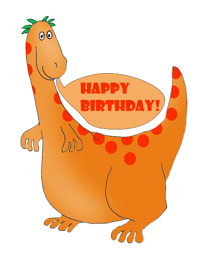 Dinosaur bday 5 png. Birthday clip art and