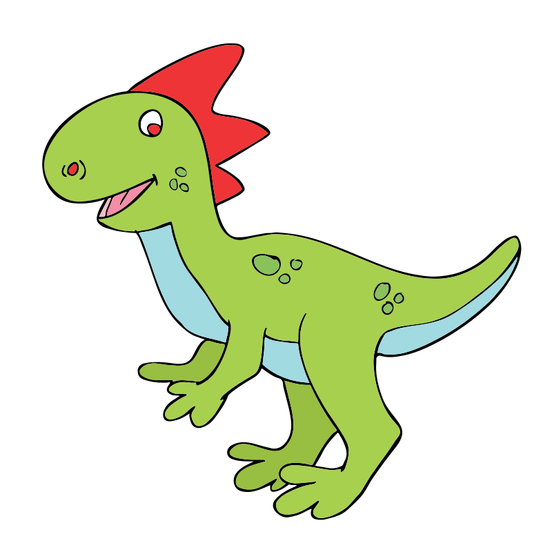 Velociraptor transparent cute. Free cartoon dinosaur cliparts